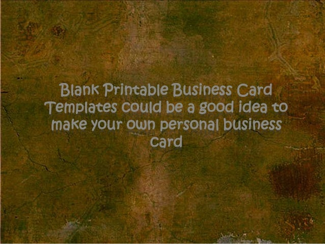 Easy Blank Printable Business Card Layout Templates For Word