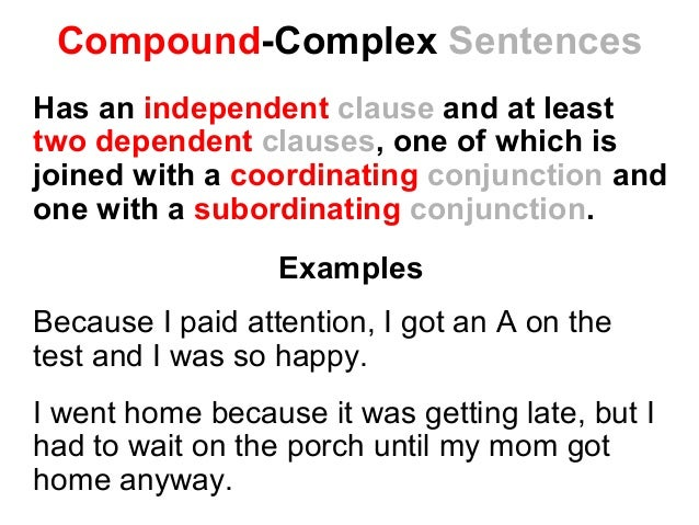 Simple, Compound Or Complex Sentence