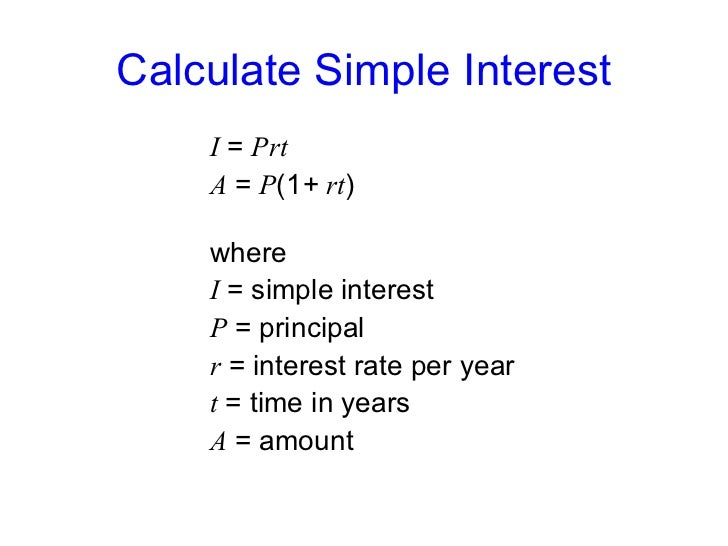 Simple interest-formula