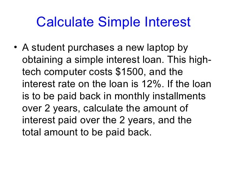 calculating simple interest