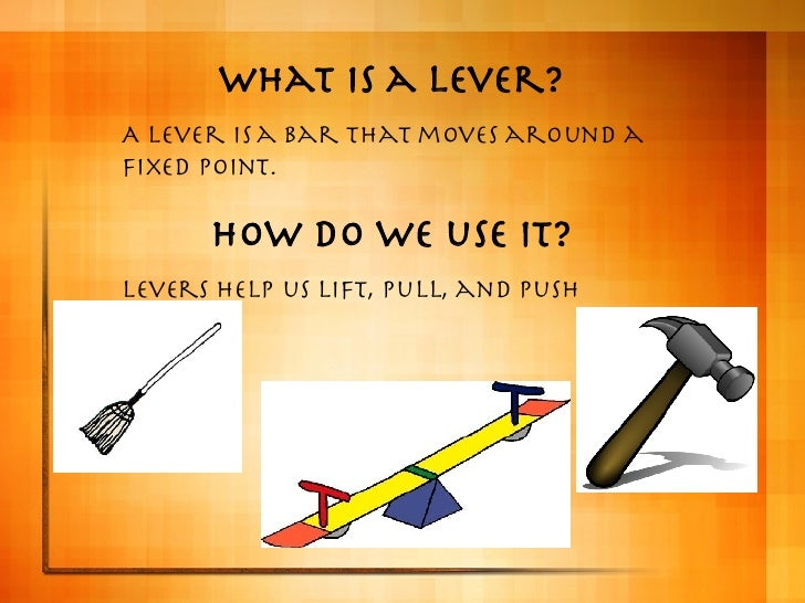 how to make a simple lever