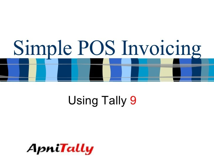 Simple POS Invoicing Using Tally  9