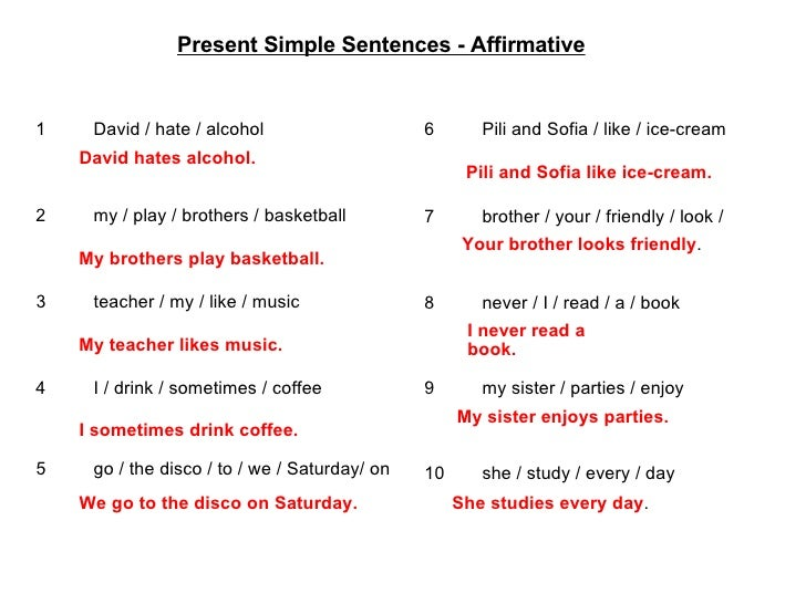 PRESENT SIMPLE QUESTIONS AND NEGATIVE SENTENCES