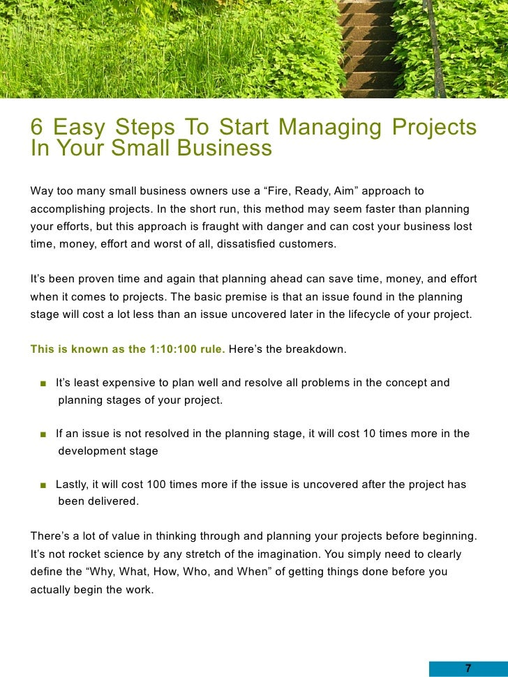 my small business project How to deliver successful, profitable projects on time with your small business clients by dana j goulston, pmp and karl w palachuk small business project management is simply not as complicated as project management in the enterprise.