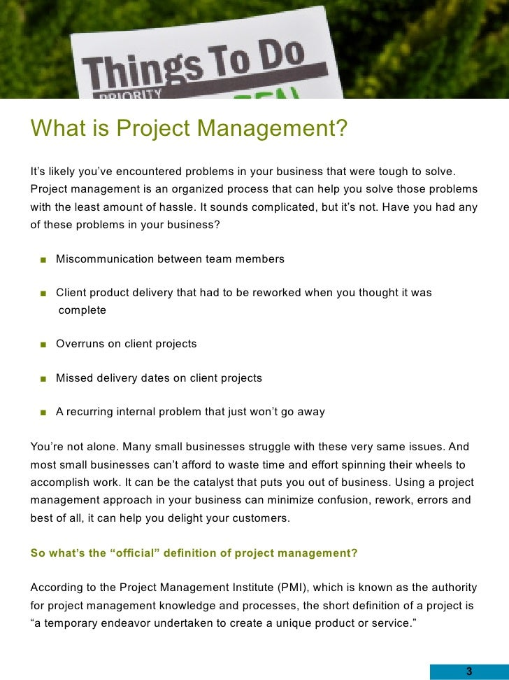 Simple Project Management For Small Business - Six Easy Steps To Succ…