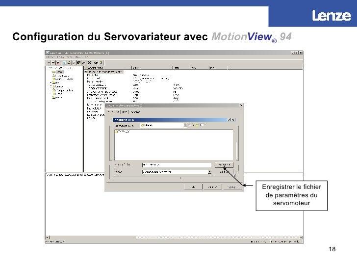 Configuration du Servovariateur avec   Motion View ®   94 Donner un nom à votre fichier de paramètres moteur Enregistrer l...