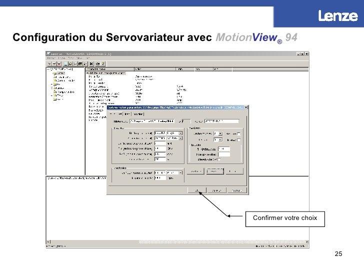 Configuration du Servovariateur avec   Motion View ®   94 Confirmer votre choix