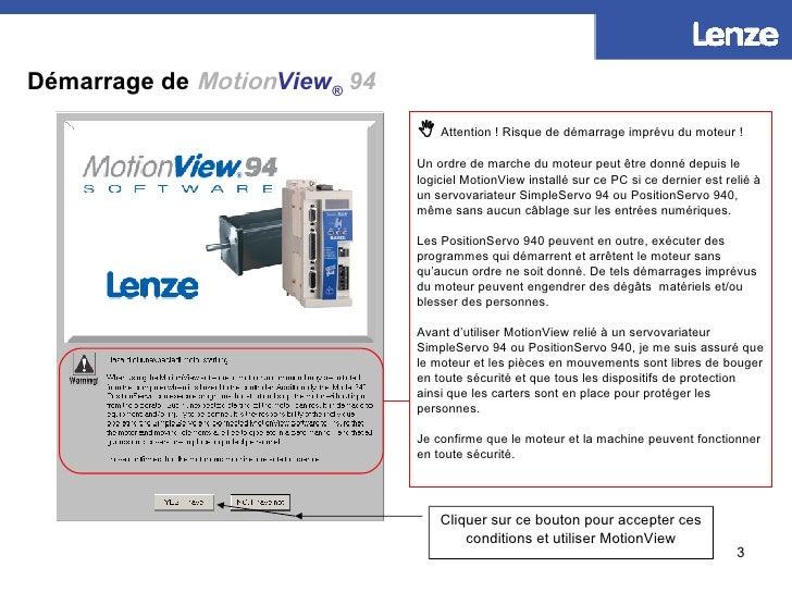 Démarrage de  Motion View ®   94 Cliquer sur le raccourci pour démarrer MotionView    Attention! Risque de démarrage imp...