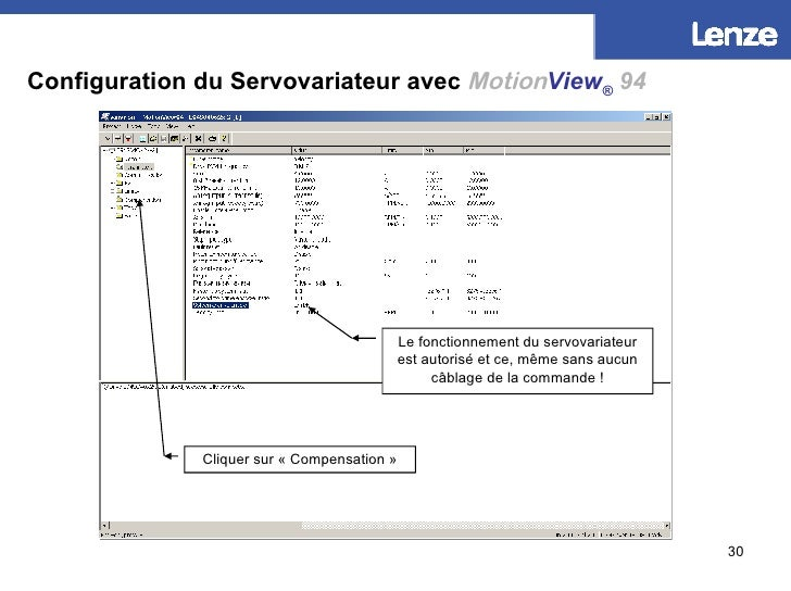Configuration du Servovariateur avec   Motion View ®   94 Le fonctionnement du servovariateur est autorisé et ce, même san...