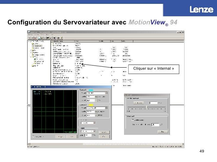 Configuration du Servovariateur avec   Motion View ®   94 Cliquer sur «Internal»