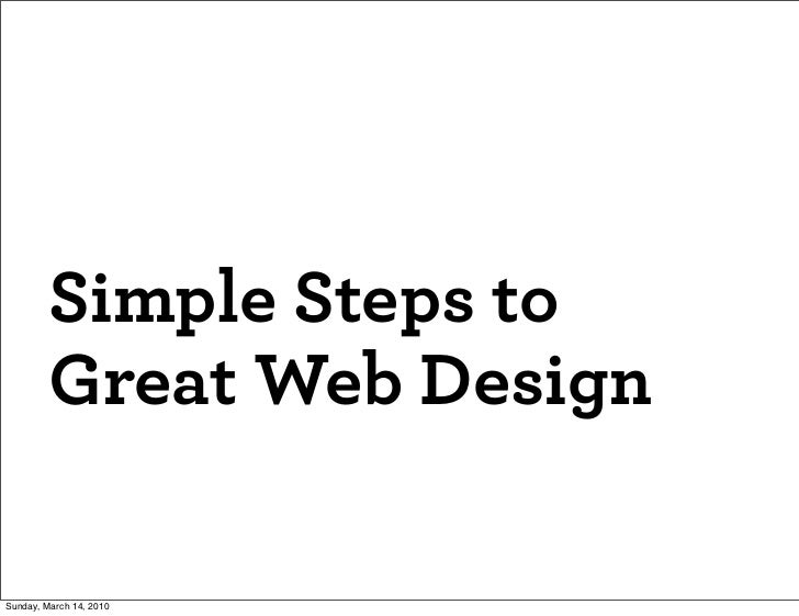 Simple Steps to Great Web Design