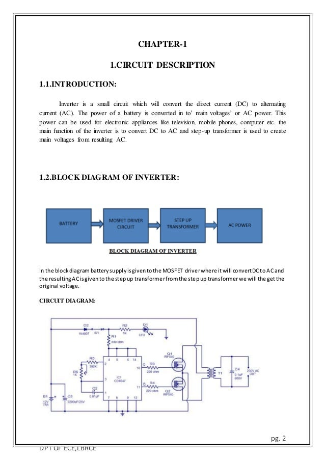 Simple 100 W Inverter Circuit