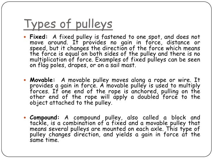 What Are The 3 Types Of Pulleys