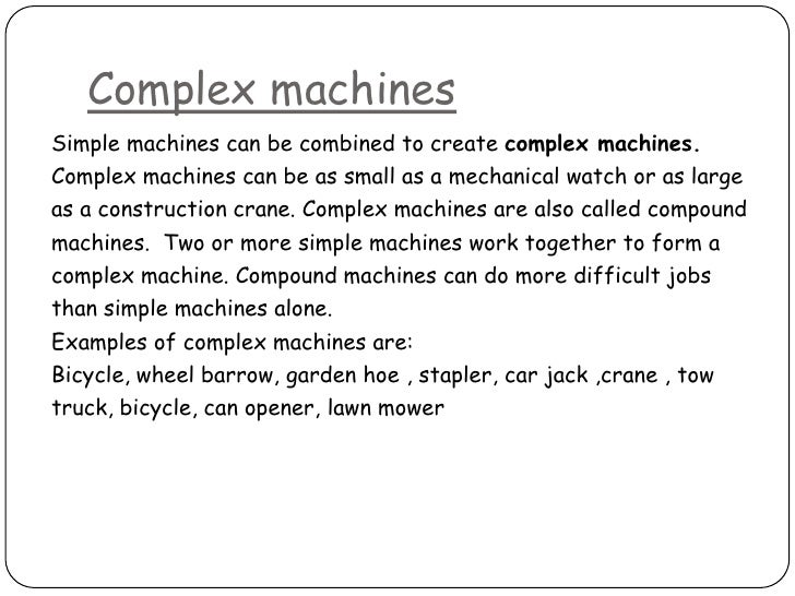Worksheet Compound Machines Worksheet simple and complex machines machinessimple machines