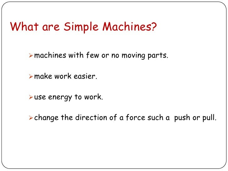 Simple Kitchen Machines Worksheet simple and complex machines