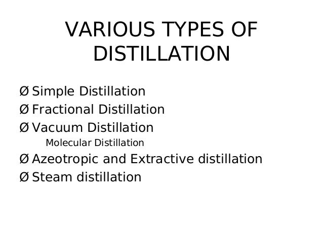 simple and fractional distillation Fractional distillation is a process of separating a mixture of chemical compounds this means that each part (called a fraction) of the mixture can be kept apart.