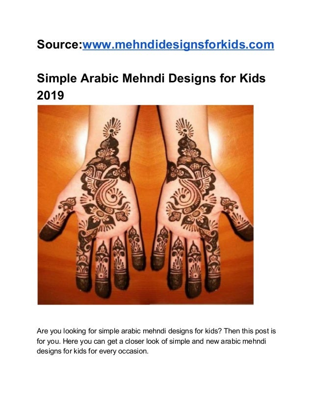arabic simple mehndi designs for kids