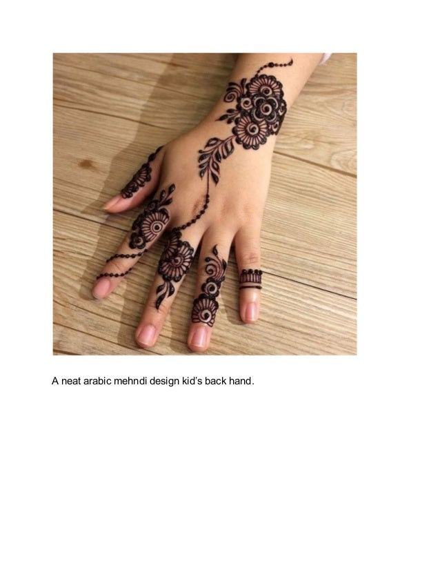 arabic mehndi designs for kids hand