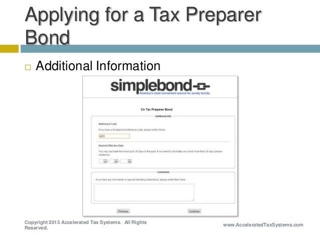 How to Apply for a California Tax Preparer Bond