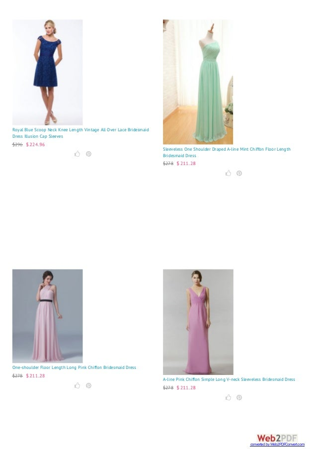 Royal Blue Scoop Neck Knee Length Vintage All Over Lace Bridesmaid Dress Illusion Cap Sleeves $296 $ 224.96   Sleeveless...