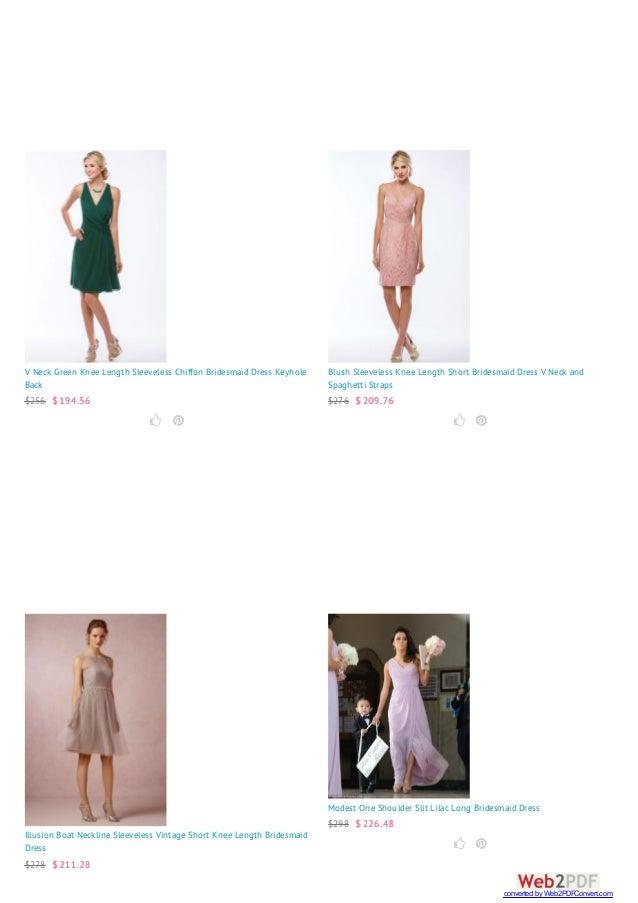 V Neck Green Knee Length Sleeveless Chiffon Bridesmaid Dress Keyhole Back $256 $ 194.56   Blush Sleeveless Knee Length S...
