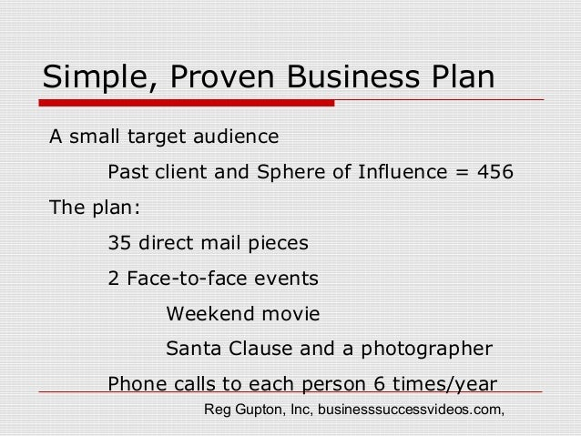 Simple, proven real estate business plan