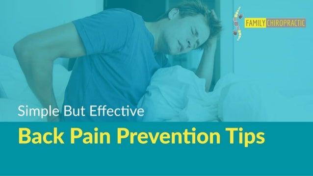 Simple But Effective Back Pain Prevention Tips
