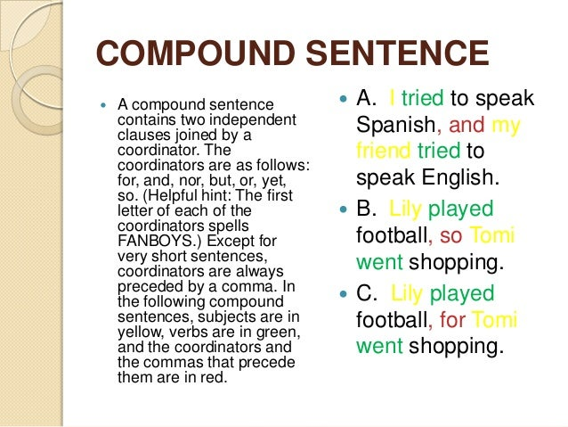 Types of Sentences Practice (KEY) - Simple, Compound, Complex ...