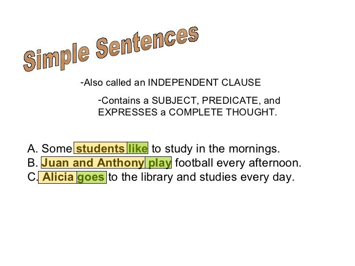 compound complex sentences 2 simple sentences