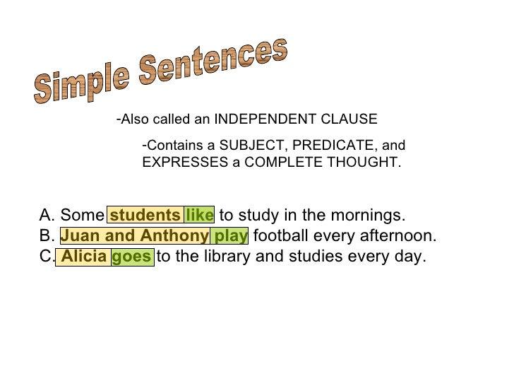 simple compound complex compound complex sentences