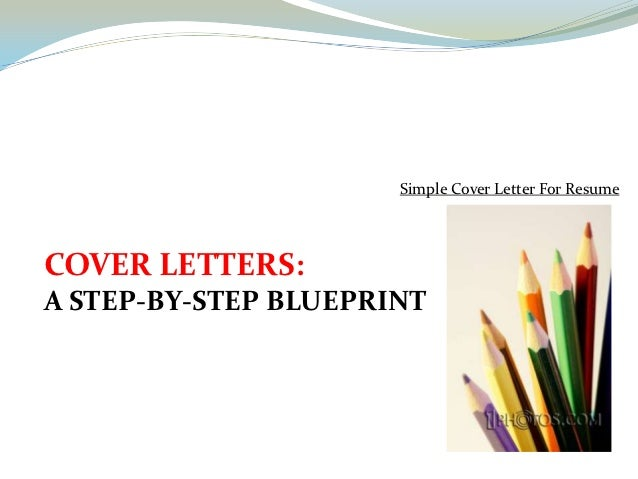 Simple cover letter for resume – Simple Cover Letter for Resume