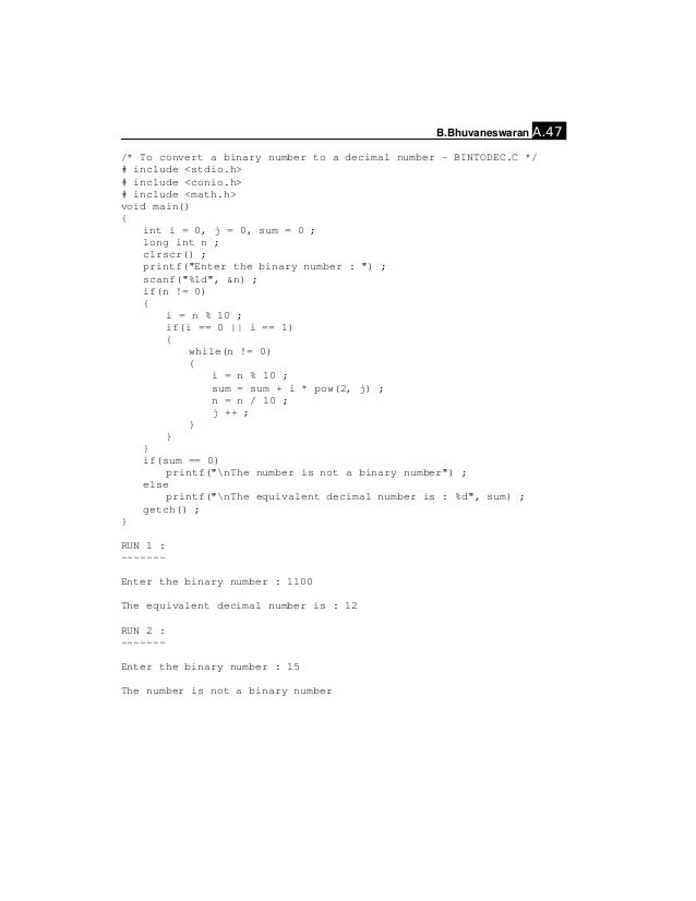 Simple C programs – Stand and Deliver Worksheet