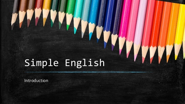 Simple English Introduction