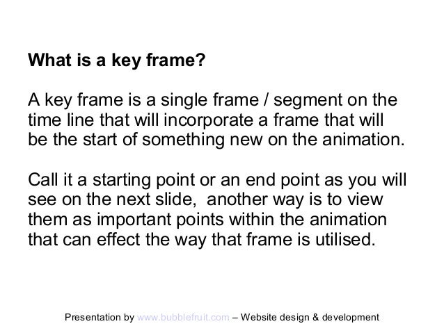 what is a key frame