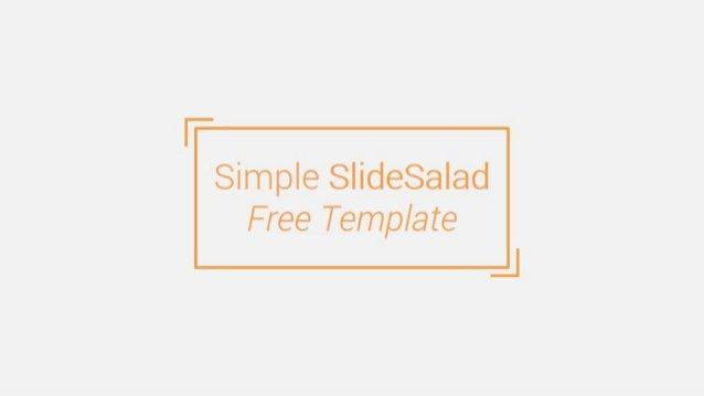 SlideSalad is #1 online marketplace of premium presentations templates for all needs Download at SlideSalad.com
