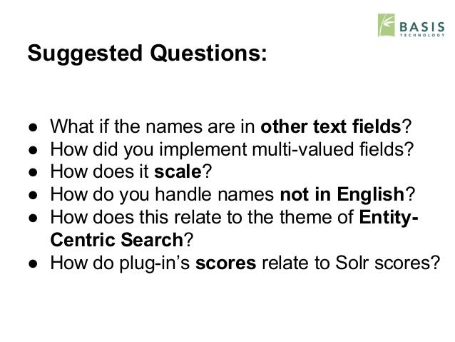 ... 25. Suggested Questions: ...