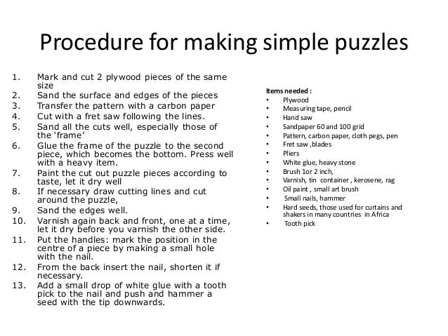 simple jig saw puzzles how to make them