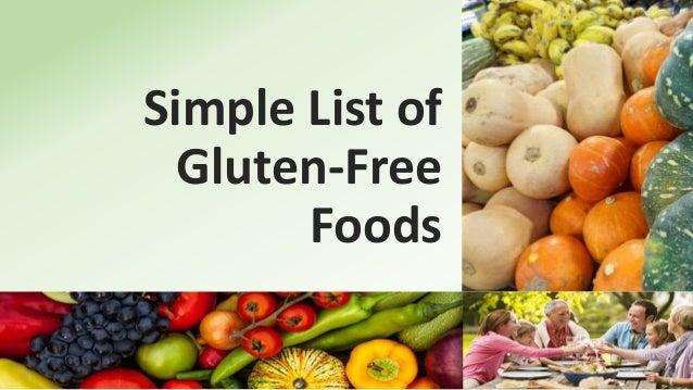 Simple List of Gluten-Free Foods