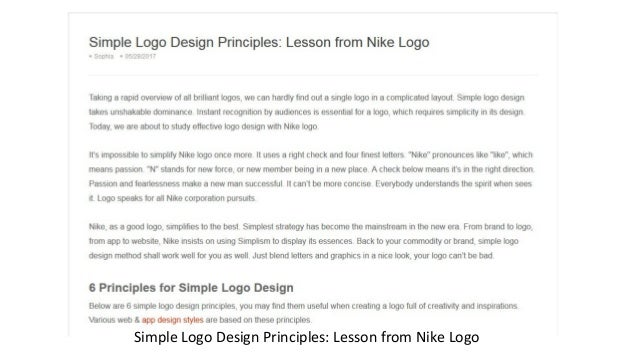 Simple Logo Design Principles: Lesson from Nike Logo ...
