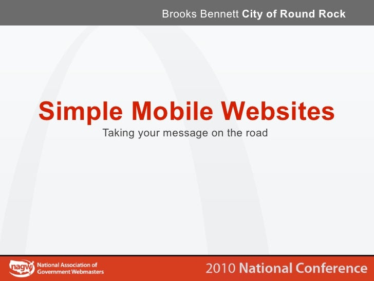 Brooks Bennett City of Round Rock     Simple Mobile Websites     Taking your message on the road