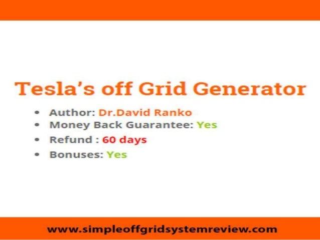 Tesla off grid generator does it work