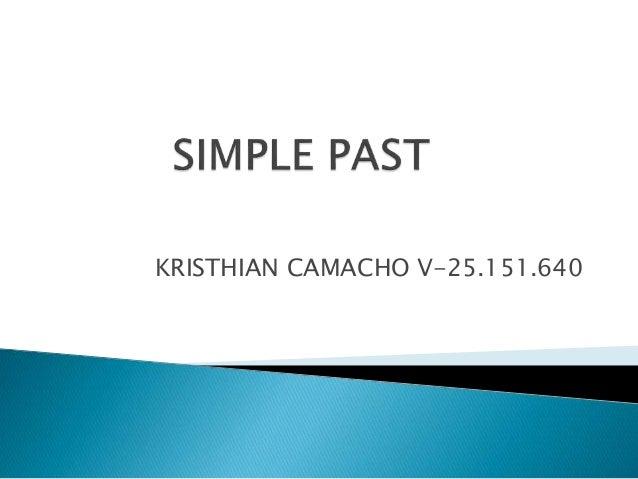 KRISTHIAN CAMACHO V-25.151.640