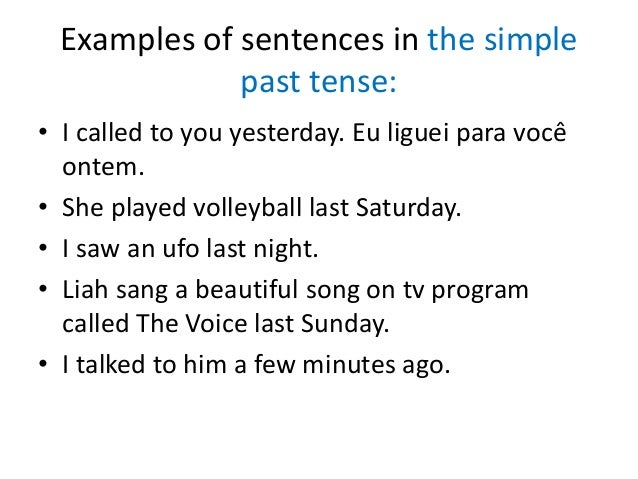 past tense and example The past tense – past perfect  example: she had been late to class several times before she got detention  microsoft word - past perfect tensedoc.