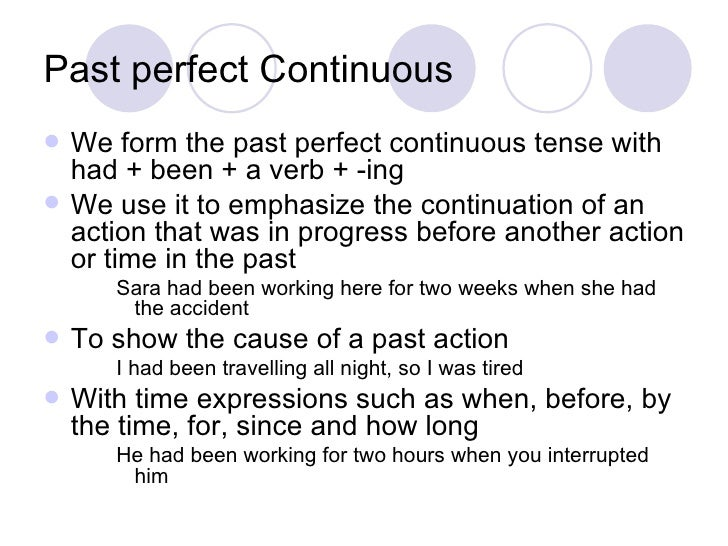 Past perfect tense vs past perfect continuous exercises pdf