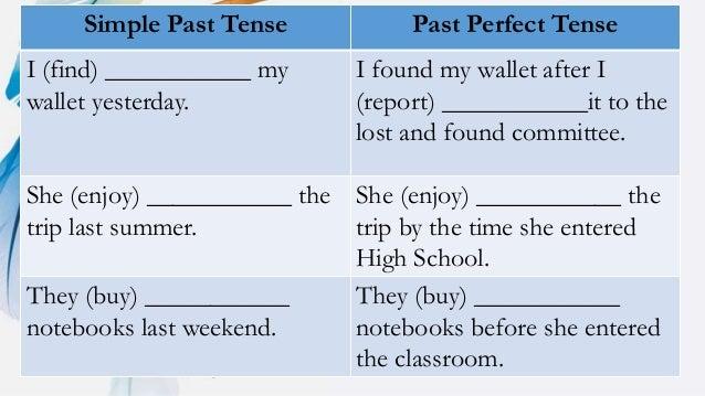 enjoy past simple