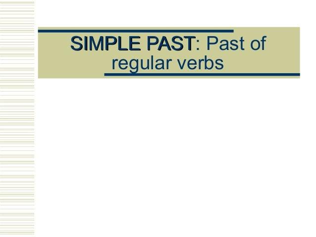 simple past of regular verbs. Black Bedroom Furniture Sets. Home Design Ideas