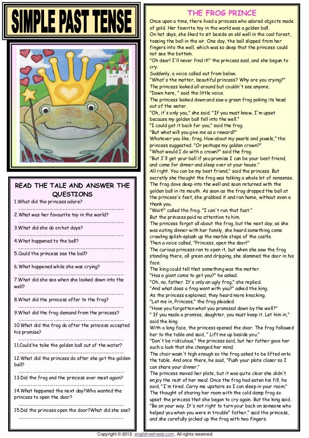 past tense verbs worksheets