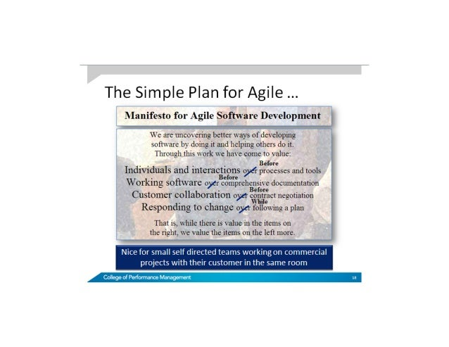 Simple plan for agile