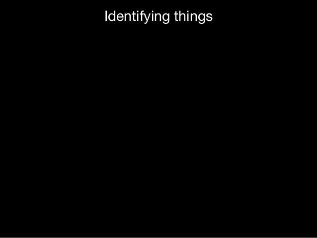 Identifying things