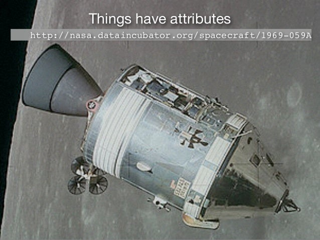 Things have attributes http://nasa.dataincubator.org/spacecraft/1969-059A 28801.0kg
